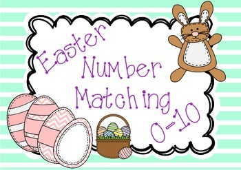 Easter Number Matching Cards