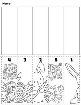 Easter Number Order Cut & Paste Scene