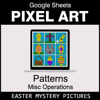 Easter - Number Patterns: Misc Operations - Google Sheets Pixel Art