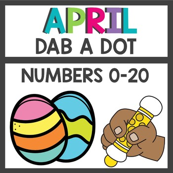 Easter Number Practice Dab a Dot
