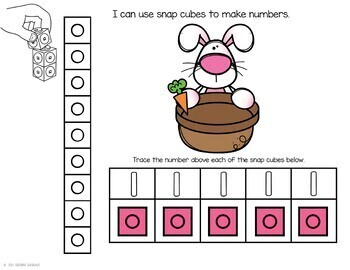 Easter Number Practice with Snap Cubes