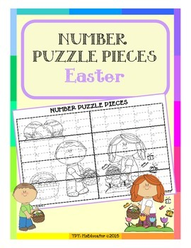 Easter - Number Puzzle Pieces EASY PREP