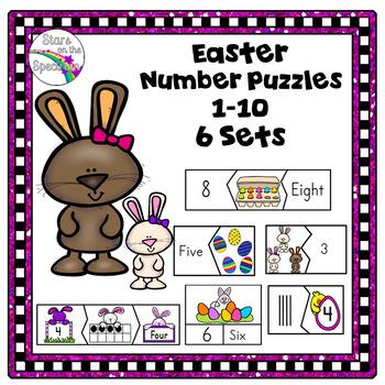 #HappyEasterDeals Easter Number Puzzles Preschool
