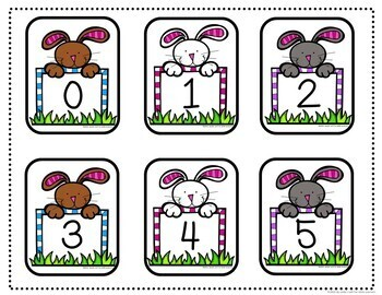 Easter Number Recognition and Counting Activity
