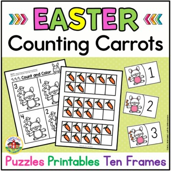 Easter Number Sense Activities Counting Carrots Tpt