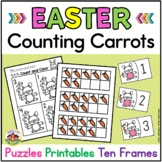 Easter Counting Puzzles with Number Sense Printables: Counting Carrots