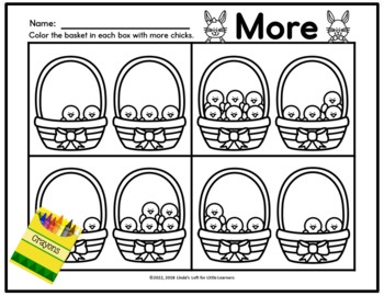 Easter Number Sense Activities: Counting Chicks in a Basket
