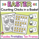 Easter Counting Puzzles and Number Sense Printables: Counting Chicks in a Basket