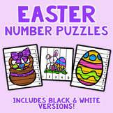 Number Sequencing Puzzles - Easter