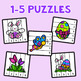 Easter Number Sequencing Puzzles - Set of 10
