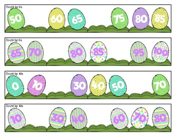 Easter Number Sequencing Strips