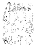 Easter Number Tracing/Coloring Sheet