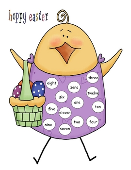 Easter Number  Word Mat 0-12