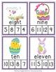 Easter Number Words Clip Cards