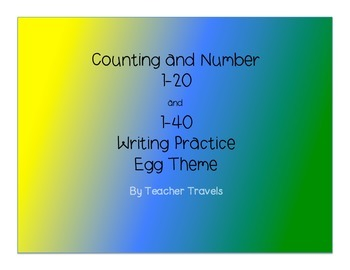 Easter Number Writing to 40