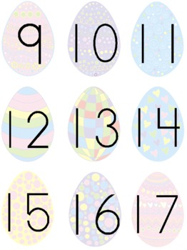 Easter Numbers 0-20