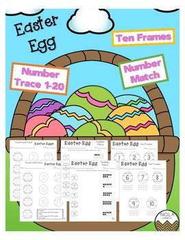 Easter Numbers 1-20 Worksheets- No Prep!