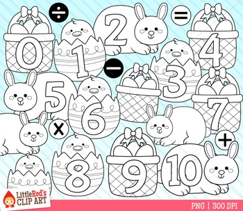 Easter Numbers Clipart