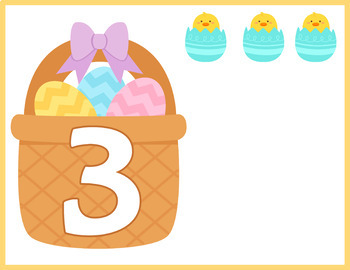 Easter Numbers Flash Cards; Kindergarten; Preschool; Homeschool; Math