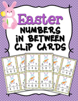 Easter Numbers In Between Clip Cards