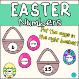 Easter Numbers | Put the eggs in the right basket