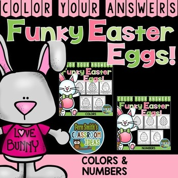 Color By Cody Funky Easter Eggs Numbers and Colors