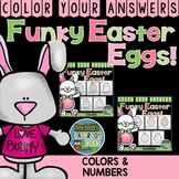 Color By Code Funky Easter Eggs Numbers and Colors Bundle