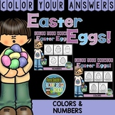 Color By Code Easter Eggs Numbers and Colors Bundle