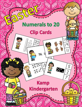 Easter Numerals to 20 Clip Cards