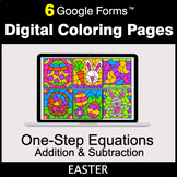 Easter: One-Step Equations - Addition & Subtraction - Digi