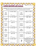 Easter One-step One-Variable Equations with Fractions and Decimals