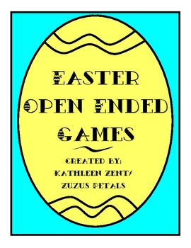 Easter Open Ended Games
