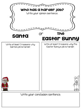 Easter Opinion Writing