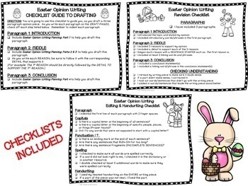 Easter Opinion Writing--Persuasive--Piece Pack--Common Core Aligned
