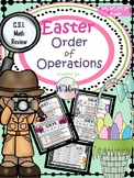 Easter Math Activity Order of Operations C.S.I Activity {N0 PREP}