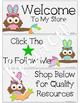 Animated Quote Box Banner (Animated Easter Owl GIF) for Your TpT Store