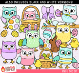 Easter Owls Clipart