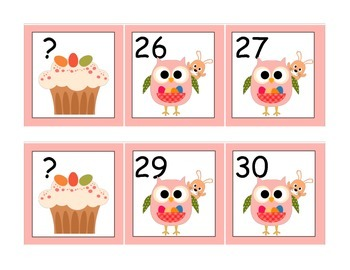 Easter Owl Missing Numbers
