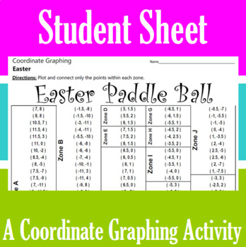Easter Paddle Ball - A Coordinate Graphing Activity