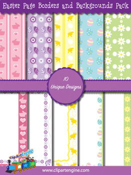Easter Page Borders and Backgrounds Pack