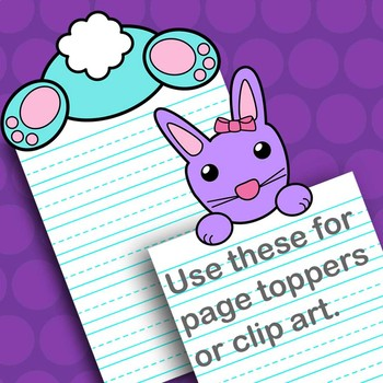 Easter Page Toppers Clipart