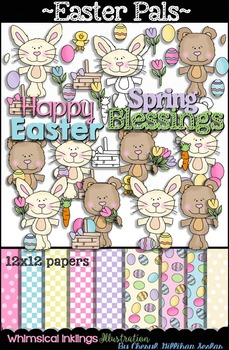 Easter Pals Clipart and Paper Collection