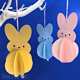 Easter Paper Activity -  Peeps Decorations - 5 Page Lesson