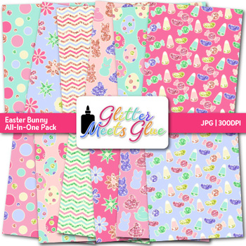 Easter Bunny Paper | Scrapbook Backgrounds for Worksheets & Resources
