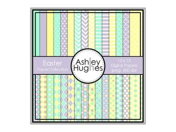 12x12 Digital Paper Set: Easter Collection {A Hughes Design}