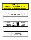 Kid Activities - Easter Paper Coloring Bracelets -  Print, Cut, Color & Wear!
