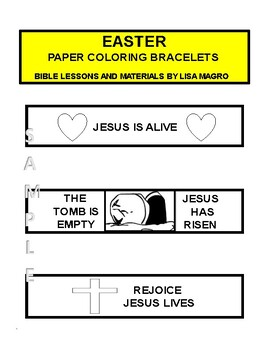 Kid Activities - Easter Paper Coloring Bracelets -  Print, Cut, Color & Wear!