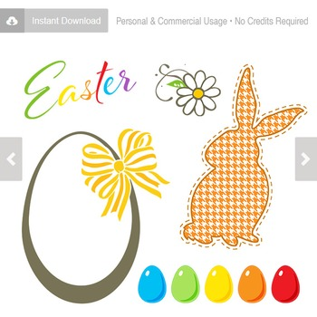 Easter Paper and Clipart Collection - C00001