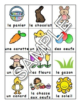 Easter / Paques FRENCH Worksheets and Games Pack