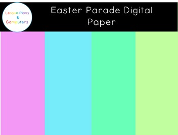 Easter Parade Digital Paper
